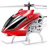 SYMA Helicóptero teledirigido S39 RC helicóptero 3,5 canales, 2,4 GHz, luz LED y giroscopio, regalo para niños, color rojo