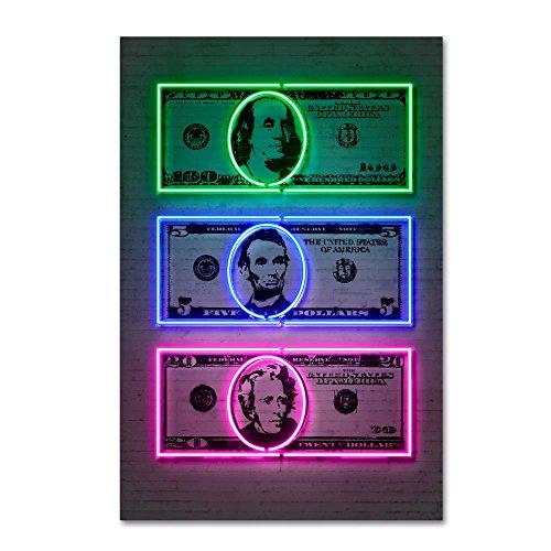 Dollars by Octavian Mielu, 16x24-Inch Canvas Wall Art