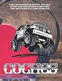 Elegante libro para colorear para adolescente - Coches. Más de 100 coches: Suzuki, Ferrari, Volkswagen, KIA, BMW, Mitsubishi y otros. Libros de colorear de talla grande para adolescente