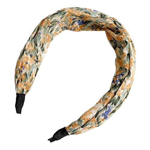 Nai-storage SPA Facial Cinta Cabeza, Simple ala Ancha Hairband, Envoltura Cabeza Elástico Suave de Yoga Facial Ducha Cosmética Deportes Belleza Cuidado Piel (Color : A, Size : 5.5 CM)