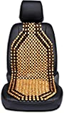 Hard Eight Beaded Car Seat Cover Wood Cushion Massage Comfort Wooden Bead Strung Cushion-Pack of 1 for Maruti Suzuki Ritz