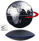 infactory Schwebeglobus: Freischwebender Globus mit beleuchteter Magnet-Schwebebasis, Ø 14 cm (Schwebende Weltkugel)