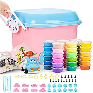 36 Colors Air Dry Clay Set with Box and Tools, Clay for Kids Super Soft Magic Clay ,Gift for Kids Toys DIY Creative Modeling