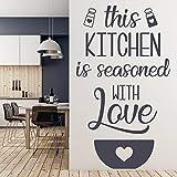 WERWN con Amor condimento calcomanía de Pared Cocina Cita Letras Vinilo Etiqueta de la Ventana Restaurante Comedor decoración de Interiores Mural