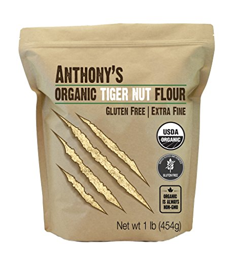Anthony's Organic Tiger Nut Flour, 1 lb, Gluten Free, Non GMO, Paleo Friendly