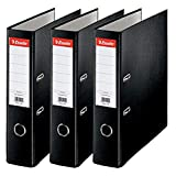 Esselte D75 Lot de 3 Essentials Classeur à levier Noir
