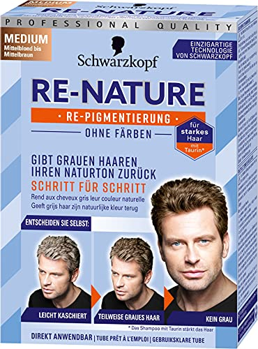 Re-Nature Re-Pigmentierung Haarfarbe Men Medium Mittelblond bis Mittelbraun, 3er Pack(3 x 145 ml)