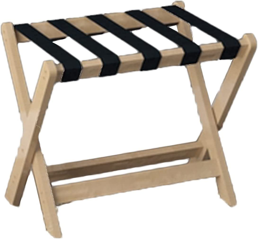 Hotel Max 41% OFF Luggage Rack Solid Wood Special price for a limited time Bedside with Hanger Non-Sli