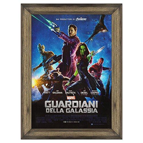 ConKrea - Póster, diseño original de cine, con marco, enmarcado, guardianes de la Galaxia, tamaño 70 x 100 cm