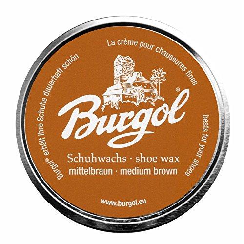 Burgol Palmenwachs-Schuhcreme, 100 ml, mittelbraun