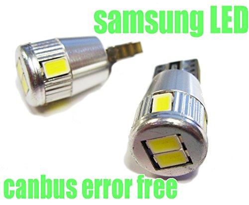 T10C6W - Blanca de Canbus SMD LED lámpara bombilla de repuesto luces de posición W5W T10...