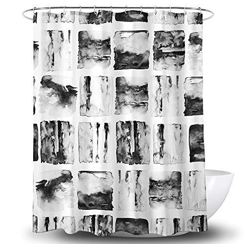 chuanglanja Wasbaar badgordijn Grijs bedrukt waterdicht en schimmelbestendig polyester douchegordijn met zwaar lood 180 * 180cm