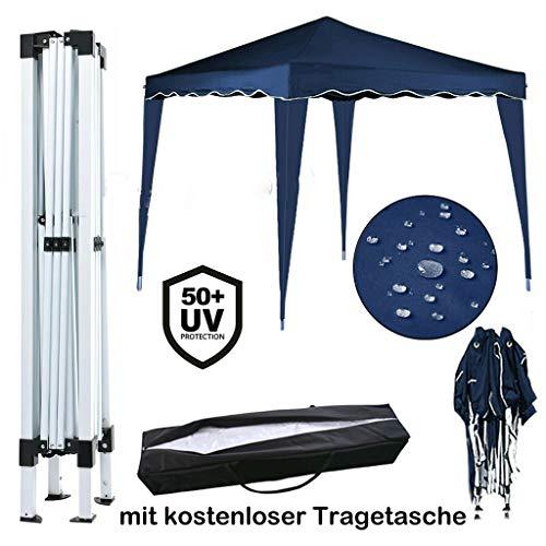 Yiyai 3x3m Faltpavillon - Wasserdicht | UV-Schutz 50+ | inkl. Tasche HOCHLEISTUNGSZWECKE Zelt Marquee(Ohne Seitenteile) Blau