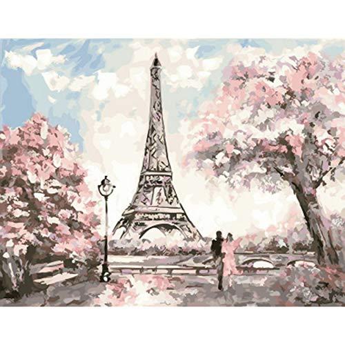 Kits de pintura por números hechos a mano Diy regalo toalla paisaje imagen al óleo para adultos decoración de la sala de estar del hogar arte de la pared