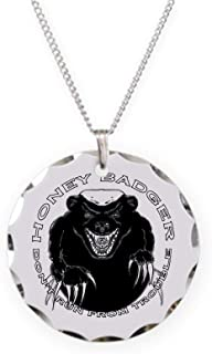 CafePress Honey Badger Charm Necklace with Round Pendant