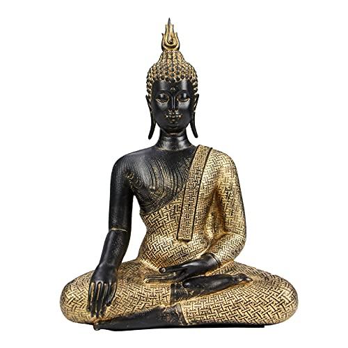 Vimtrysd Seated Buddha Statue,11''Rustic Buddha Decor Figurine,Antique Meditation Buddah Home Decoration for Home Office Altar Table Desktop Spiritual