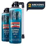 BuyStar Arexons 8473 Gomma Spray Sigilla Forature e Rigonfia Pneumatici 2 Bombolette