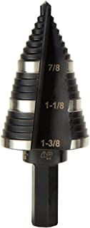 Klein Tools KTSB15 Step Drill Bit No15, Double Fluted, 3-Hole Sizes