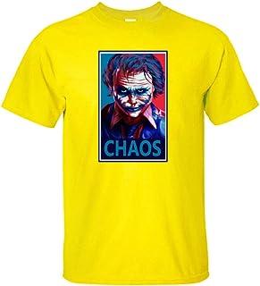 BRQ Men T Shirt JOKER Shirt Men'sprinted Halloween Custom Tide Flow High Quality ClownTops Tees Male T-shirt (Color : Yell...