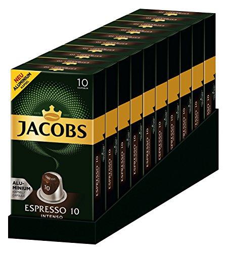 Jacobs Kapseln Espresso Intenso Nespresso®*(10 x 10 Kapseln)