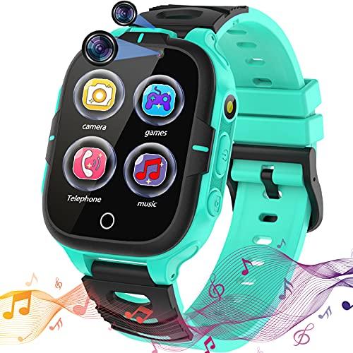 Smartwatch per Bambini con 15 giochi Giochi Orologio per Ragazzo e Ragazza Touchscreen con Fotocamera Lettore Musicale Chiamata SOS Comunicazione chiamataTorcia Sveglia 4-12 Anni Regalo di Festa