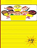 for kids +3: An empty story magazine with space for pictures and writing lines, ideal for kindergarten and early childhood activities,