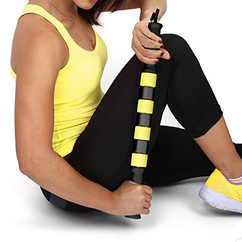 Best Massage Muscle Roller Stick Because it Works. Instant Relief of Leg Tightness, Cramping & Soreness Post Exercise