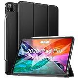 ZtotopHülle Hülle für iPad Pro 12.9 2020(4. Generation),Superdünne Leicht PU Leder Smart Hülle mit PC Rückseite Abdeckung,Unterstützt Das Aufladen des iPad Pencil,für iPad Pro 12,9 Zoll 2020,Schwarz