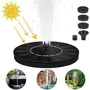 Etmury Fuente solar para estanque, bomba solar de 1,2 W, bomba para estanque, fuente solar, bomba de agua para fuente de…
