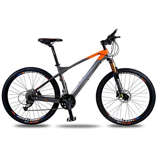 Racing Class Volwassene Mountain Bike, Carbon Fiber Oil Disc Brake Fiets, 26 Inch -27 Speed, sneller en Labour-Saving Riding