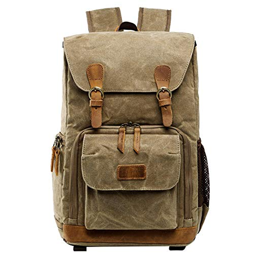 58bh Camera Backpack, Waterproof Professional Storage SLR DSLR Camera Backpack Canvas Large Capacity for Men, Woman, 30x19x42cm