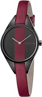 Calvin Klein Womens Analogue Quartz Watch with Leather Strap K8P237U1