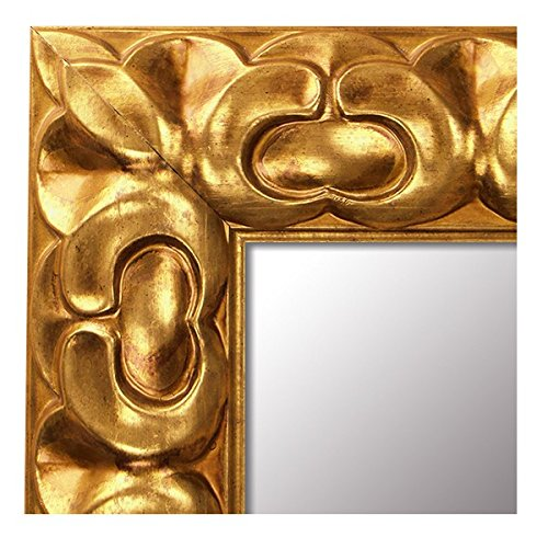 -Espejo de Madera Fabricado en España- Tamaño 68x88 cm. Espejo Decorativo de Pared Modelo 238 Oro. Ideal para Salón, Dormitorio, vestidor, Baño o Pasillo