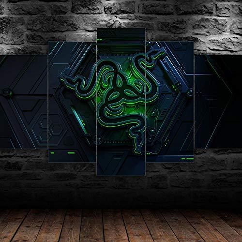 45Tdfc 5 StüCk Kunst Poster Razor PC Modern Wand Wohnzimmer Dekoration Geschenk HD Panel für Zuhause Büro Kunstdruck