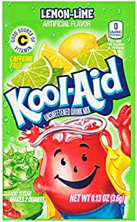 Kool-Aid Lemon Lime Flavored Unsweetened Caffeine Free Powdered Drink Mix (96 Packets)