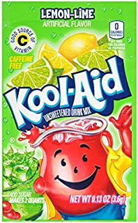 Kool Aid Lemon Lime Drink Mix (0.13 oz Packets, Pack of 96)