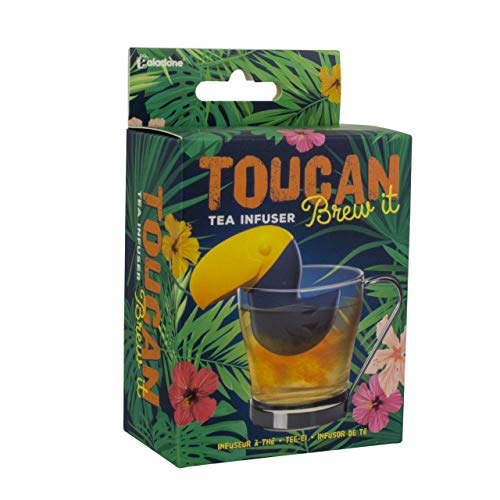 Toucan Brew It Infusor de té   novedoso colador de té de silicona   ideal para hojas sueltas de té de hierbas y mejora el sabor del té Apto para lavavajillas