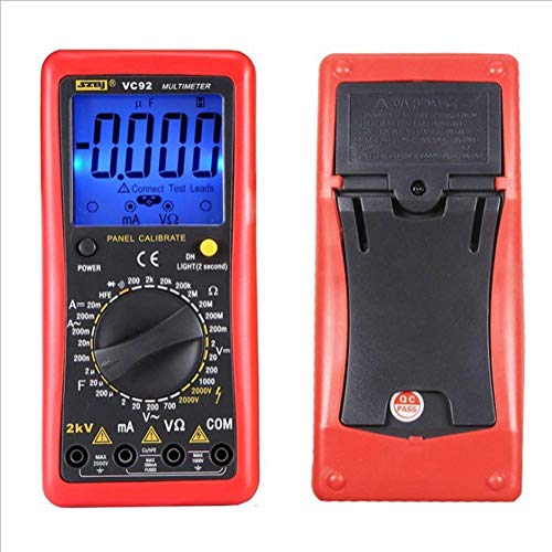 JHYS Multímetro portátil de 2000 V, multímetro Digital, medidor de Voltaje de Fase a Fase, medición de Voltaje de CA y CC, Alto Voltaje de 2 kV