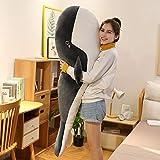 N / A Juguete de Peluche de tamaño Gigante Animal Marino Ballena Azul Peluche de Peluche, Regalo de cumpleaños para niños 150cm