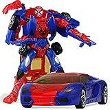 Spiderman Manual Deformación Coche De Juguete Autobots Robot Modelo Niños Regalo para Niños Figuras De Acción,Red