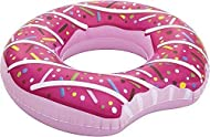 """Donut Pool Float inflates to 42"""" wide. High quality durable vinyl: scratch and tear resistant. Use it in the pool, lake or beach. Easy to inflate and deflate. Take it with you on vacations and travelling. Fun, bright, special design that people can l..."""