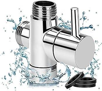G1/2  Shower Head Diverter Valve 100% Solid Brass Shower Arm Diverter Valve for Hand Held Showerhead and Fixed Spray Head G1/2 20mm Diameter 3-Way Bathroom Universal Shower System Replacement Part