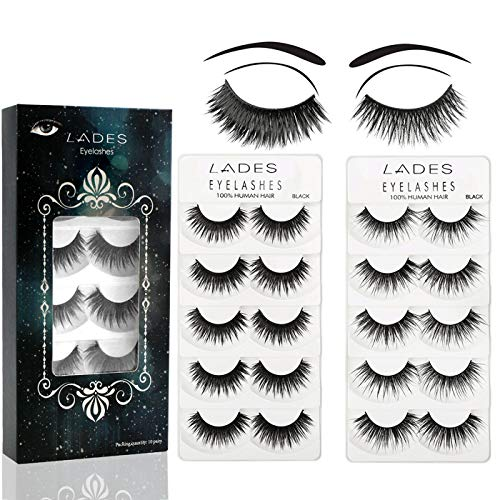 False Eyelashes - 10 Pair Multipack Natural 3D False Eyelashes Natural...