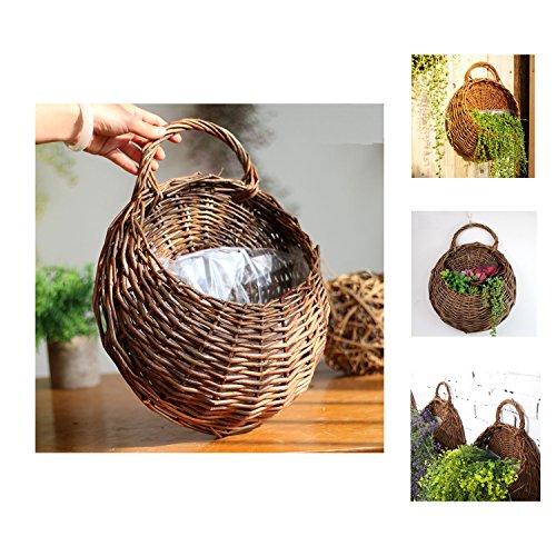 YOSPOSS handgefertigt, zum Aufhängen, Rattan-Korb-Design, für Zuhause, Hochzeit, Party-Dekoration