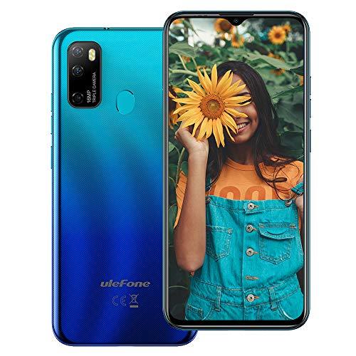 Ulefone NOTE 9P (2020), Android 10 Smartphone Offerta, 6,52  Cellulare 16MP Quad Camera, Octa-Core 4GB + 64GB, 3 slot Per Schede, Dual SIM, Batteria 4500mAh OTG, Sblocco Impronta Digitale GPS Aurora