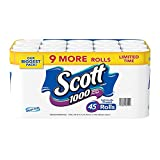 Scott 1000 Limited Edition Bath Tissue (1,000 Sheets, 45 Rolls), 45 Count (Pack of 1)