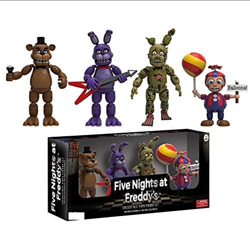 4Pcs Anime FNAF Five Nights At Freddy'S Bonnie Foxy Golden Freddy Fazbear Bear Balloon Boy Figuras...