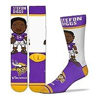 For Bare Feet - # Player Socks Men's Size Large 10-13 (Stefon Diggs - Minnesota Vikings)