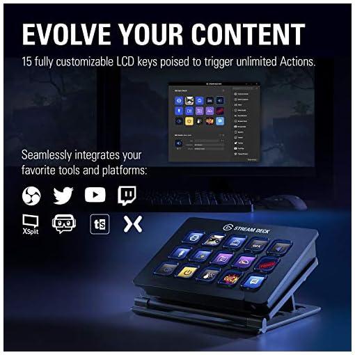 elgato Stream Deck - Controlador para contenido en directo, 15 teclas LCD personalizables, soporte ajustable, Windows 10… 2