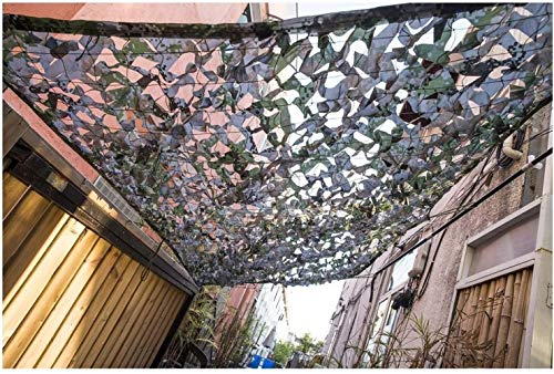 LF- Pantalla de Camuflaje Neto Selva de Camuflaje sombreado Neto Neto Exterior satélite Net Protector Solar Anti-aérea Cubierta de la Red Aislamiento térmico (Size : 4x5M)
